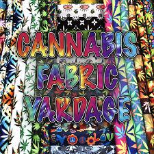 Marijuana Prints Home Decor Fabric Polyester 62