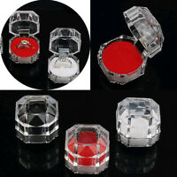 Wholesale 30pcs Lots Plastic Clear Crystal Jewelry Ring Display Storage Boxes