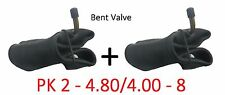2 x 4.80 / 4.00 - 8 Innertube & BENT VALVE / Wheelbarrow / Wheel / Inner Tube