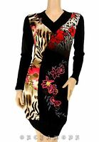 Robe Tunique Pull  MY DESIGN  Tail 40 M 3 broderie floral perles Soirée NEUF