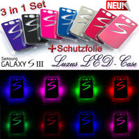 Samsung Galaxy S3 LED Flash Farbwechsel Cover Leuchtcover Case Hülle i9300 LTE