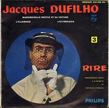 "JACQUES DUFILHO ""MADEMOISELLE BERTHE"" 50'S EP PHILIPS 432488"