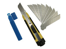 SDI-5414 Snap-off Utility Knife with 12 Set of Sk2+cr Blades, 9mm Box Cutter