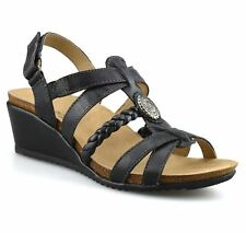 Mens Leather Sports Gym Walking Cushioned Summer Beach Mules Sandals Shoe Size UK 7 Black