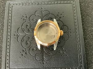 Authentic 1986 Rolex 69173 Case, Case Back,18K Fluted Bezel and Crown For 26MM