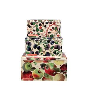 Emma Bridgewater Cake Tins Fruit Design Set of 3 Square Steel