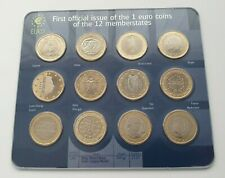 More details for europe - first official issue of the one euro €1 coins 12 coin set 12x €1