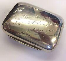 ANTIQUE VICTORIAN SOLID SILVER HALLMARKED TRAVEL SOAP BOX CASE 1895 GREY & CO