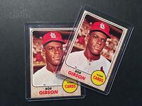 1968 Topps #100 Bob Gibson St. Louis Cardinals Pitcher Baseball Card Set Break