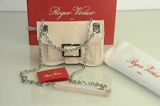 New Roger Vivier Metro Beige NUDE Pink Patent Bag Micro Restyling cross body