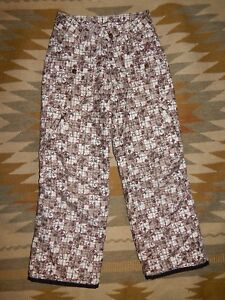 Orage ~ Youth Girl's Size 10 ~ Tan & Brown w Maroon ~ Snow Ski Pants