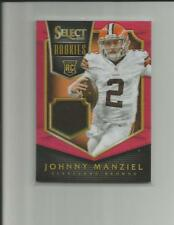 2014 Select Football - RJ-JF Johnny Manziel RC - Red Refractor Relic 50/149