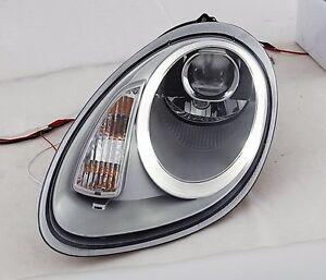 Porsche Boxster 987 Cayman MK1 991 Style Argenté LED DRL Phares Projecteur