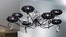 Lampadario contemporaneo design moderno foglia argento BELL dream 1306/L8L
