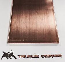 "1/4"" thick x 4"" wide x 8"" long Flat Copper Bar Stock  - C110 Ground / Buss Bar"