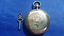 Antique ROTHERHAMS Key Wind Pocket Watch Sterling Silver Case