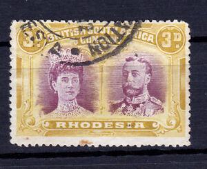 Rhodesia-1910/13. 3d Double-Head, P14. Fine used