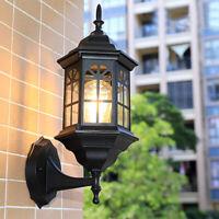 Outdoor Wall Lights Garden Wall Lamp Kitchen Glass Wall Sconce Black Lighting