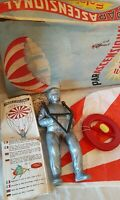 Vintage 1960's EOLO II PARASCENSIONAL PARACHUTE - Italian Toy. Original box