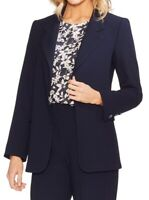Vince Camuto Womens Jackets Midnight Blue Size 10 Crepe Open-Front $149 021