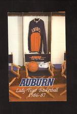 Auburn Tigers--1986-87 Basketball Pocket Schedule--Craftmaster Printers