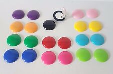 ReTro 16mm plastic CLIP - ON button style stud earrings,  11 fab colour options