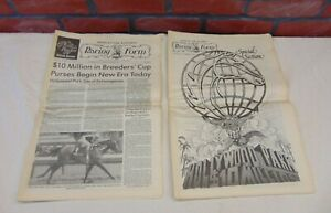 1984 Daily Racing Form HOLLYWOOD PARK BREEDER'S CUP Special Edition HORSE RACE