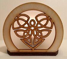 Celtic Heart Wooden Tealight Holder