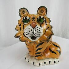 Tiger Teapot Blue Sky Ceramic Kitchen Decorative Collectible Heather Goldminc