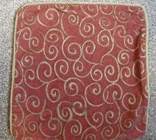 """RED & GOLD Embroidery Tapestry Type 18"""" x 18"""" Cushion Cover by Lace Dimensions"""