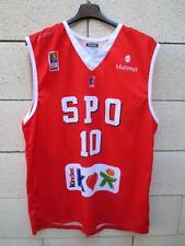 Maillot basket porté n°10 SPO ROUEN Kinder LNB worn shirt Kappa XL maglia