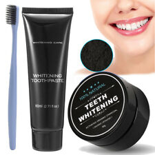 Organic Activated Charcoal Teeth Whitening Coconut Shell Powder Carbon Coco Kit