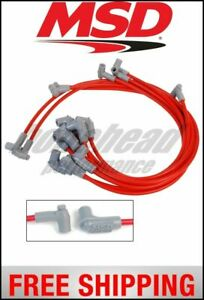 MSD Ignition Wire Set, Super Conductor, Small Block Chevy 350, HEI