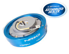 NRG Steering Wheel Thin Quick Release Blue SRK-400BL