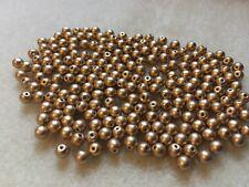 PROMO 250pcs Czech Round Beads 3 mm Matte Metallic Flax