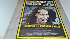 EXPERIMENTATIONS HUMAINES  !  affiche cinema 1979