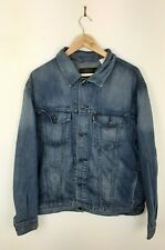 Mens Levis Dark Blue Classic Vintage Trucker Denim Jacket Size XL