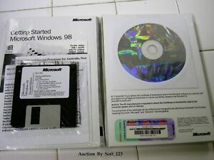 MICROSOFT WINDOWS 98 SE SECOND EDITION FULL OPERATING SYSTEM MS WIN 98SE =NEW=