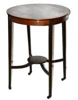 Edwardian Inlaid Mahogany Occasional Table - FREE Shipping [PL3299]