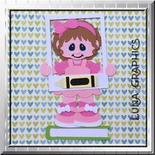 SCHOOL PICTURES GIRL Embellishments Card toppers Paper Piecing scrapbooking