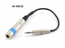 """3.5mm Stereo Plug to 1/4"""" Jack Hi End/Powered Microphone to PC Computer Adapter"""