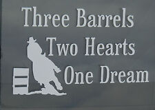Barrel Racing,Horse Lovers,Country,White,Pink,or Soft Pink Oracal Vinyl Decal