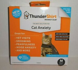 ThunderShirt Classic Cat Anxiety Jacket, Heather Gray, Medium-Brand New