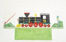 *NEW* Train Engine #9  Brick Cover Door Stop HP Needlepoint Canvas Susan Roberts