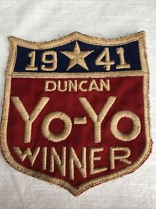 1941 Duncan's Yo Yo Winner ORIGINAL VINTAGE PATCH embroidered yo-yo