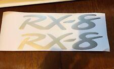 Mazda RX-8 Decals x2. Pair Of. Stickers. Bumper. Door Decals. Mazda. Silver.