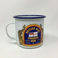 Pusser's Rum British Navy Enameled Tin Mug Vintage Terminology Company Store