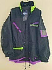Kawasaki Motorsports Swingster Mens Jacket NWT Black Green Purple Hood