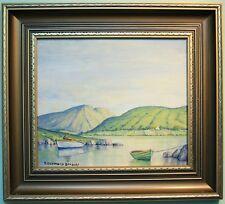 Irish Art Original Oil Painting GLEN LOUGH, CO. DONEGAL by T DESMOND BRADLEY