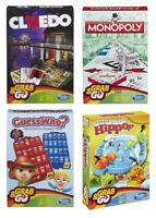 Hasbro Gaming Grab & Go Mini Travel Version of Classic Games Cluedo Monopoly